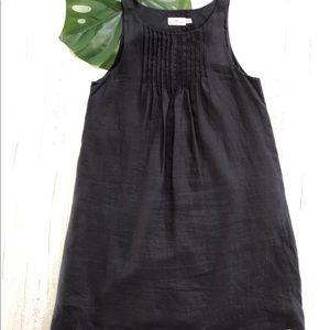 Vineyard Vines Black Linen Dress Size 12